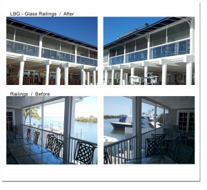 LBG Before + After Glass Railings